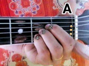 kunci gitar A