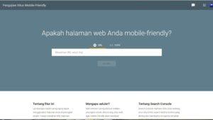 halaman web mobile friendly