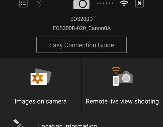 kirim file dari kamera canon ke hp