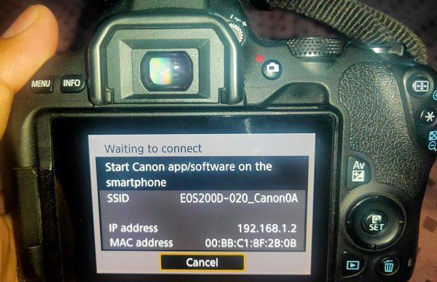 cara mengirim file dari kamera ke hp
