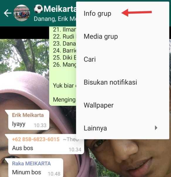 langkah membagikan grup wa