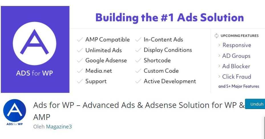 ads pro plugin ialah plugin wordpress untuk adsense gratis