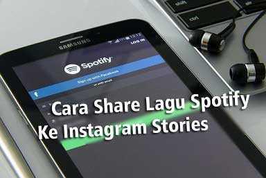cara share lagu spotify ke instastory