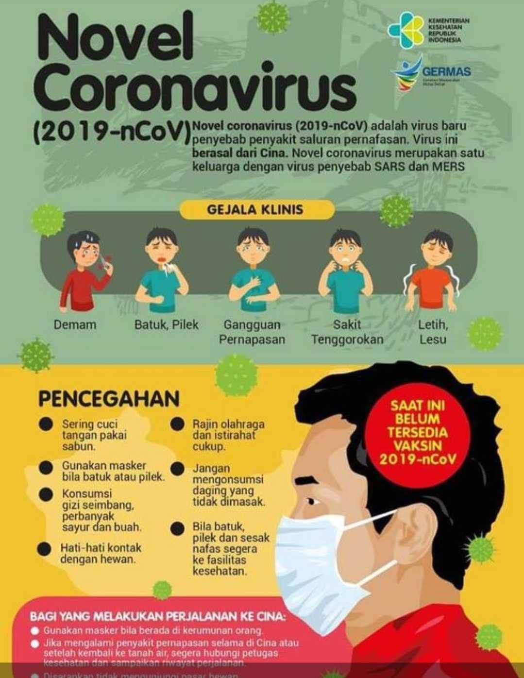 virus corona , penyebab virus corona, gejala virus corona