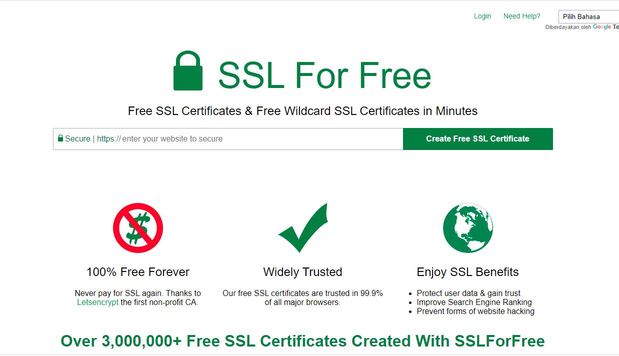 cara mendapatkan ssl gratis