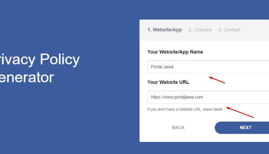 cara buat privacy policy 1