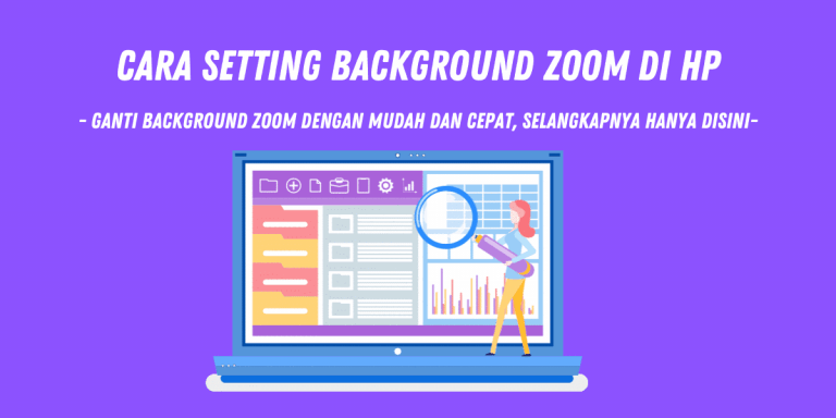 cara setting background zoom di hp